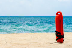 Buoy for a lifeguard. Red buoy for a lifeguard to save people from drowning Stock Images