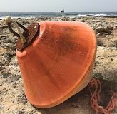A buoy lost on the beach. Paphos Cyprus 2017 Royalty Free Stock Photos