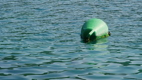 Buoy in a marine. With copy space around it. Adriatic landscape shot in Croatia near Dubrovnik stock video