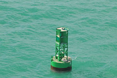 Buoy in ocean Stock Image