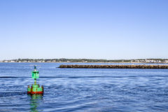 Buoy on the ocean Stock Photography