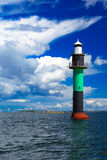 Buoy. Oresundsbron. Oresund bridge link Denmark Sweden Baltic Sea. Royalty Free Stock Photo