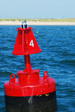 Buoy 4. A red buoy marks the channel into the Great South Bay on Long Island royalty free stock photo