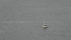 Buoy on the river stock footage
