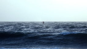 Buoy in Rough Ocean Seas
