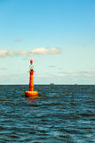 Buoy on sea Stock Image
