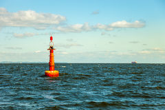 Buoy on sea Royalty Free Stock Photography