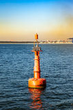Buoy on sea Royalty Free Stock Images
