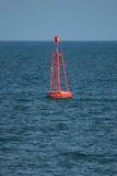Buoy. Sea buoy swaying at ocean Royalty Free Stock Image
