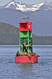 Buoy and Seals in Alaska Stock Image