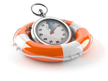 Buoy with stopwatch. On white background royalty free illustration