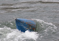 Buoy in streaming water Royalty Free Stock Photos