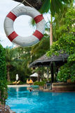 Buoy and swimming pool Stock Photo