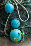 Buoy and trawl. Fishing gear stock image