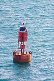 Buoy in Tropical Sea Stock Image