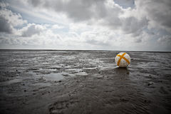 Buoy in the Wadden Sea Stock Photos