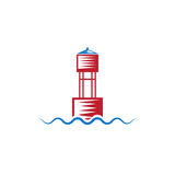 Buoy on wave simple vector design Stock Photo