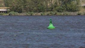 Buoyage del río almacen de video