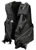 Buoyancy Compensator. Black buoyancy Compensator diving equipment on white Royalty Free Stock Photography