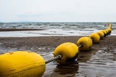 Buoyancy at Pattaya sea. Buoyancy divide sea into save zone in Pattaya sea Royalty Free Stock Images