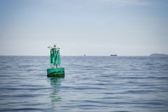 Buoyancy in the sea. An image of a green color Buoyancy in the sea Royalty Free Stock Photos
