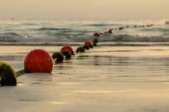 Buoyancy sfera, wiążąca z arkaną używać jako bariera dla po zdjęcia royalty free