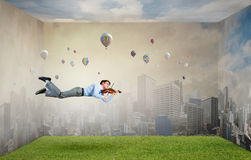 Buoyant and happy Royalty Free Stock Photography