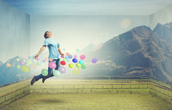 Buoyant and happy Royalty Free Stock Image