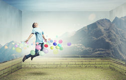 Buoyant and happy Stock Images