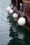 Buoys. Buoy on the side of a boat Stock Photo