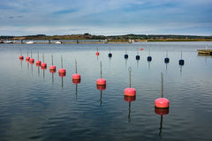 Buoys. In the port of Thiessow on the island Ruegen (Germany Royalty Free Stock Photos