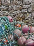Buoys Against The Wall Royalty Free Stock Photo