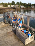 Buoys at Bass Harbor Maine Royalty Free Stock Photography