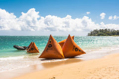 Buoys on the beach in Maui, Hawaii Stock Photography