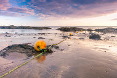 Buoys on the beach Stock Image