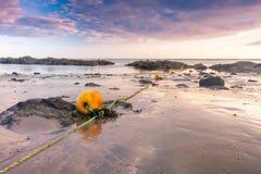 Buoys on the beach Stock Image