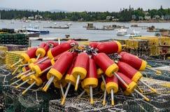 Buoys at Acadia National Park stock image