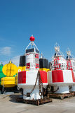 Buoys in dock Royalty Free Stock Image