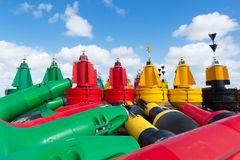 Buoys at dry Royalty Free Stock Photo