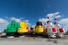 Buoys at dry Royalty Free Stock Images