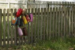 Buoys on a Fence Royalty Free Stock Image