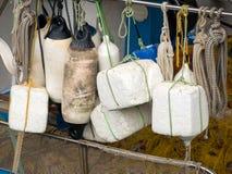 Buoys on a fishing boat Stock Photo