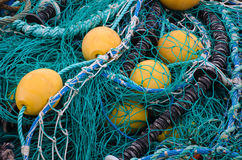 BUOYS AND FISHING NETS Stock Photography