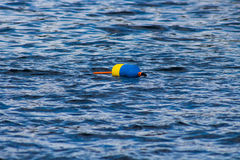 Buoys floating in the water. Images taken while on a Fishing trip in Bar Harbor Maine USA royalty free stock photography