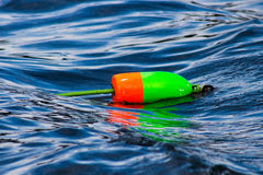 Buoys floating in the water Royalty Free Stock Photos
