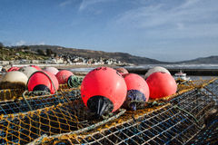 Buoys At The Harbour Stock Photo
