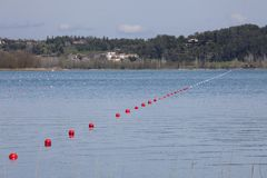 Buoys in the lake Royalty Free Stock Photo