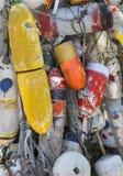 Buoys on Martha's Vineyard, MA. Colorful buoys on Martha's Vineyard Massachusetts Royalty Free Stock Image