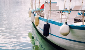 Buoys on a moored boat Royalty Free Stock Photos