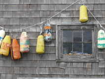 Buoys in Peggy's Cove Royalty Free Stock Photos